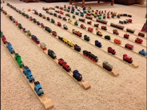 Thomas - Here's my 4th edition of my Thomas Wooden Railway Collection! Enjoy! P.S. Unfortunately, two items are missing from this collection video. Sadly, my German M...