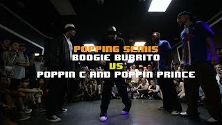 Prince & Poppin C vs Kid Boogie & Boogie Frantick – FREESTYLE SESSION 2018 POPPING TOP4