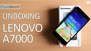Lenovo A7000 - Unboxing And Quick Review