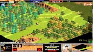 AOE mới nhất Gunny vs Mỹ Tịch T2 ngày 30 6 2015, game đế chế, clip aoe, chim sẻ đi nắng, aoe 2015