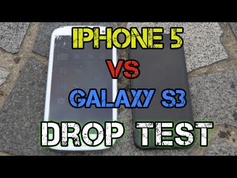 5: - iPhone 5 vs Samsung Galaxy S3 Drop Test, on location from Hong Kong! We wanted to make this a realistic as possible, and offer a detailed, slow motion perspe...