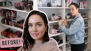 My Makeup & Filming Room Tour! Before & After Organization OVERHAUL! #Satisfying by Chloe Morello