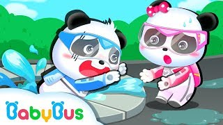Video Water Spills over from Pipe | Super Panda Rescue Team | Kids Animation | BabyBus Cartoon MP3, 3GP, MP4, WEBM, AVI, FLV April 2019