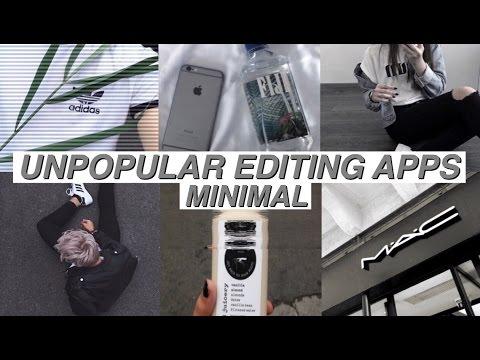 UNPOPULAR EDITING APPS // MINIMAL