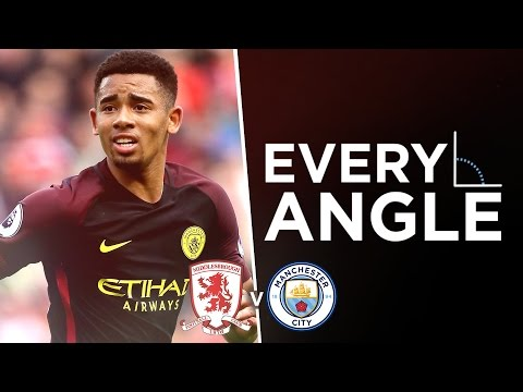 Video: GABRIEL JESUS GOAL: EVERY ANGLE | Middlesbrough 2-2 Man City |