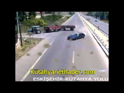 Eskişehir Kütahya karayolu trafik kazası kamerada
