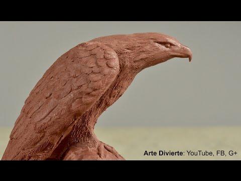 Cómo esculpir y moldear un águila en plastilina - Arte Divierte. (видео)