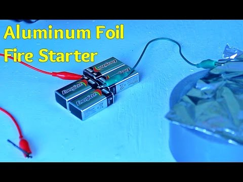 Aluminum Foil Fire Starter