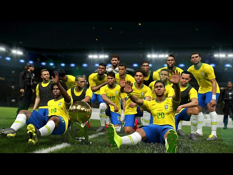 PES 2019 - Brazil Vs Peru Final Copa America 2019 | Exciting Gameplay HD |
