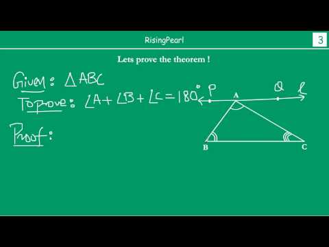 Sum Of The Angles Of A Triangle Is 180° (theorem)