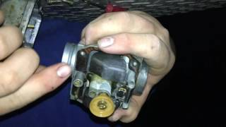 10. How to adjust your idle scrub screw for Kawasaki bayou 250 carburetor(must watch)