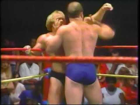 Ole and Hansen suspended from TV/Buzz Sawyer vs. Kevin Sullivan. GCW, July 1982.