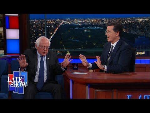 Bernie Sanders on The Late Show