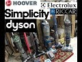 Lithium Ion Cordless vacuum Review Dyson vs  Hoover vs simplicity/Riccar vs Electrolux
