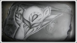 Abstract graphite pencil drawing - Source