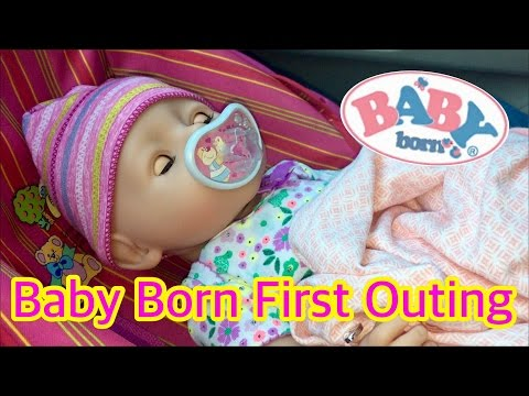 Baby Born girl Reagan's first outing to look for new clothes Zapf Creations baby born twin girl