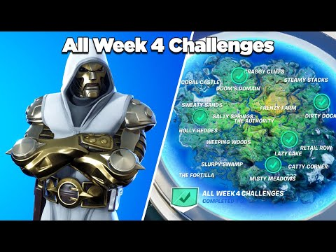 Fortnite All Week 4 Challenges Guide (Fortnite Chapter 2 Season 4)