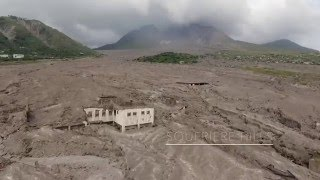 Plymouth-Montserrat Volcano exclusion zone. Drone footage 2016 The Soufriere Hills and the volcano. Music: www.audionautix.com.