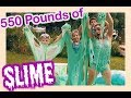 550 Pounds Of Glittery Slime Challenge  Flippin 39 Katie