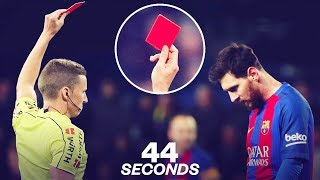 Video Lionel Messi's one and only red card! - Oh My Goal MP3, 3GP, MP4, WEBM, AVI, FLV Mei 2019