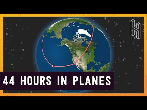 How Fast Can You Circumnavigate the World on Commercial Flights?