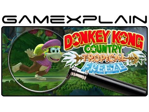 country - http://www.GameXplain.com We analyze the Donkey Kong Country: Tropical Freeze E3 trailer from Nintendo Direct for Donkey Kong Country: Tropical Freeze for th...