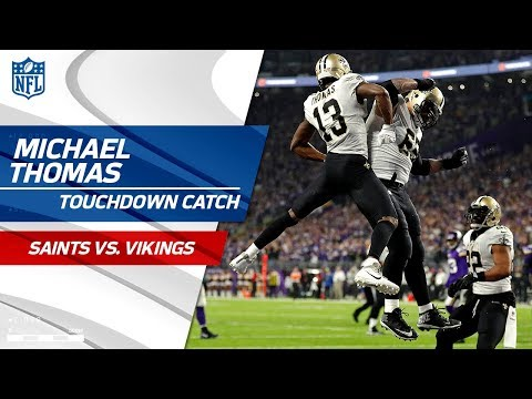 Video: Drew Brees' Perfect TD Pass to Michael Thomas to Cut Lead | Saints vs. Vikings | NFL Divisional HLs