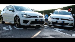 VOLKSWAGEN GOLF GTI 2015 VS GOLF R 2015 - COMPARISON TEST DRIVE - ENG ITA SUBTITLES