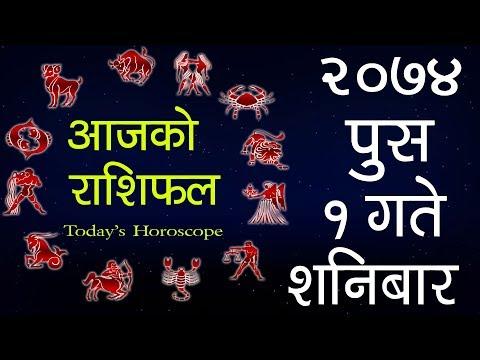 (Aajako Rashifal 2074 Push 1, Today's Horoscope...- 13 minutes.)
