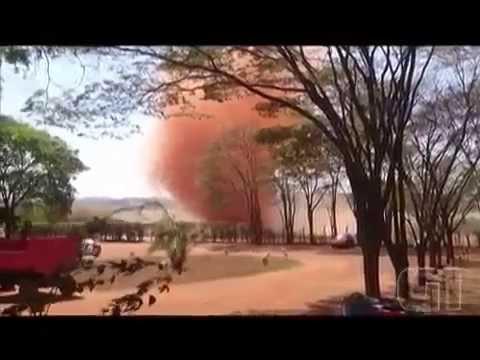 Dust devil em usina de Rubiataba, GO 27/09/2015