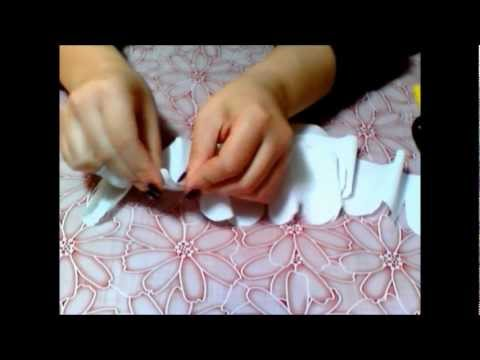 come creare una rosa di carta crespa - tutorial
