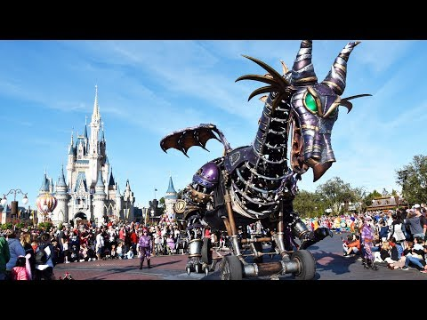 Disney Festival Of Fantasy Full Parade 2019 W/maleficent Dragon Breathing Fire, Magic Kingdom