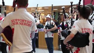 Poppyscotland Flashmob 2014   Bon Accord Centre  Aberdeen