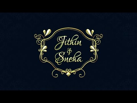 Wedding Invitation Video- Save The Date (Jithin & Sneha)