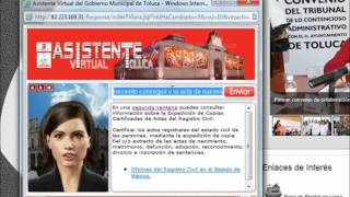 Video de Youtube de Asistente Virtual Toluca