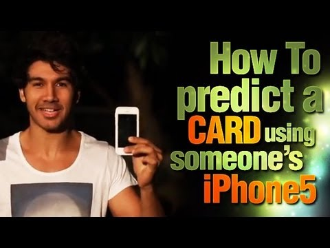 Learn Magic Tricks: How To Predict A Card Using Someone's iPhone5!