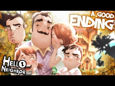 The REAL Neighbor FAMILY & A GOOD ENDING !! | Hello Neighbor [Act 3 End] Secrets and Easter Eggs (видео)