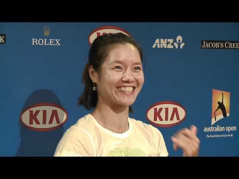 Li Na en Conferencia de Prensa del Abierto de Australia 2011