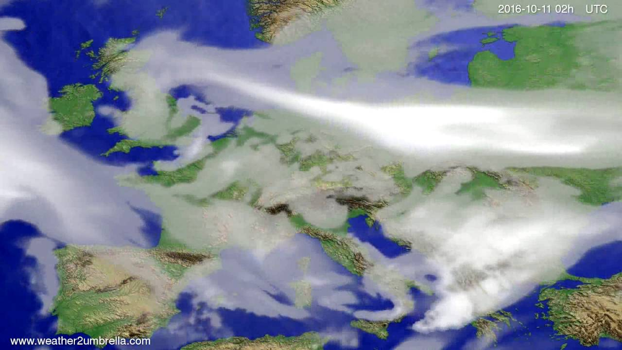 Cloud forecast Europe 2016-10-07