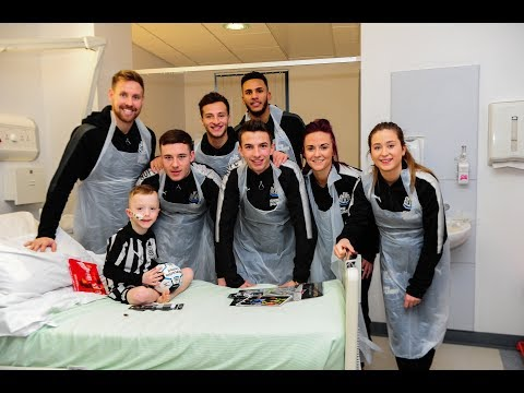 Video: Newcastle United | Players visit local hospitals