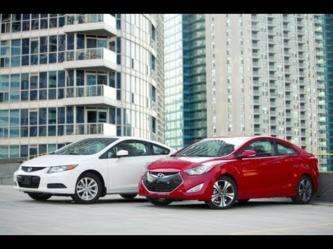 2013 Hyundai Elantra Coupe vs. 2012 Honda Civic Coupe