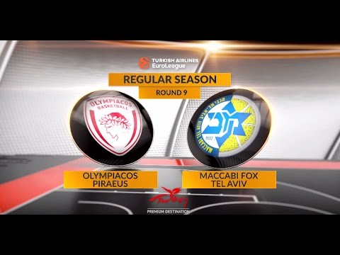 EuroLeague Highlights RS Round 9: Olympiacos Piraeus 73-80 Maccabi FOX Tel Aviv