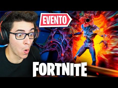 STRANGER THINGS CHEGOU NO FORTNITE! EVENTO AO VIVO COMEÇOU!