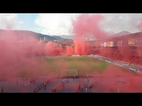 Salida de America de Cali vs Bucaramanga (18-11-2017) fecha 20 - Baron Rojo Sur - América de Cáli
