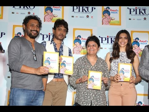 Press Conference On AMUL India Book Launch By Deepika, Irrfan & Shoojit Sircar