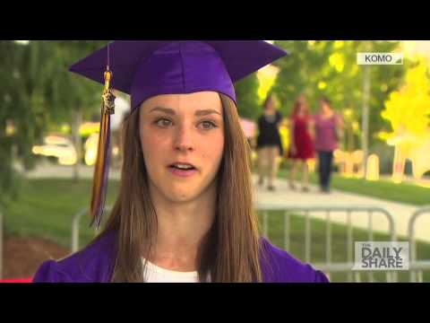 Firefighter Who Saved Baby Watches Her Graduate High School