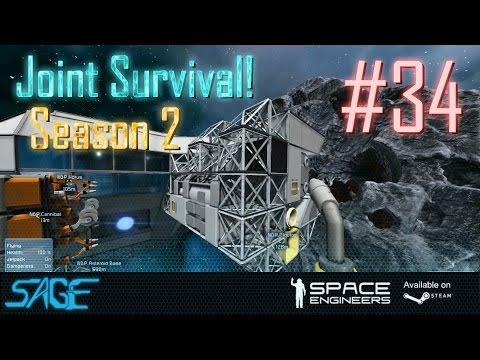 Space Engineers, Joint Survival, S2 #34 (Refinery Retrofit) (видео)