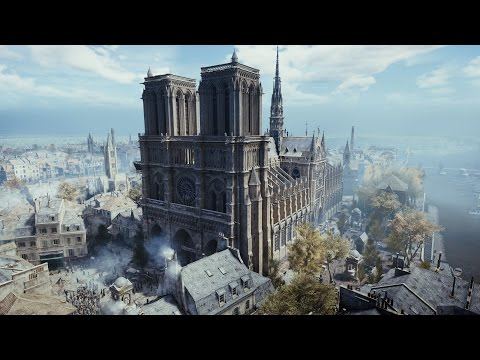 Notre Dame gargoyles\rose window (AC: Unity)