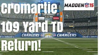 Madden 15: Antonio Cromartie 109 Yard Return TD Challenge - YouTube