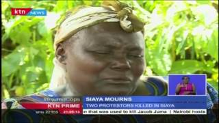 Families Of The Demonstrators Who Were Shot By The Police In Siaya Are In Mourning